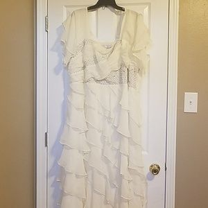 Formal Beaded and Ruffle Dress